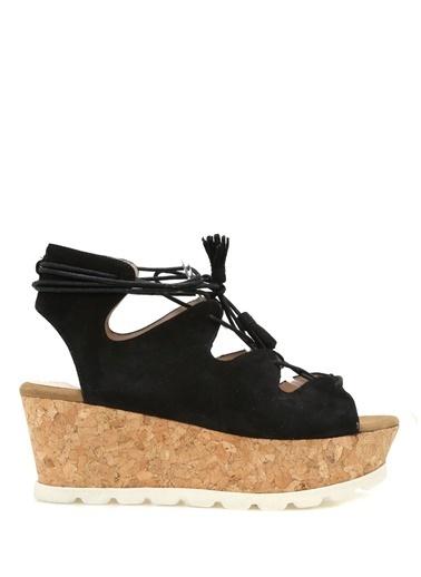 Carvela Dolgu Tabanlı Sandalet Siyah